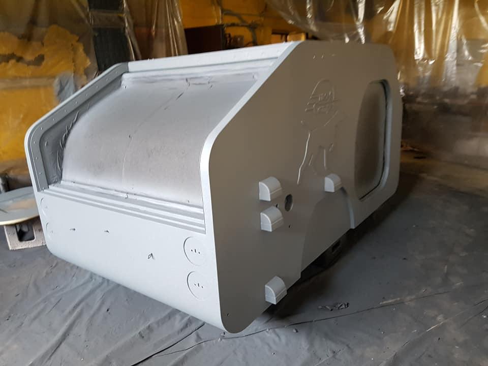 Защита кемперов полимерным покрытием Line-X от механических повреждений, гидро и термоизоляция.