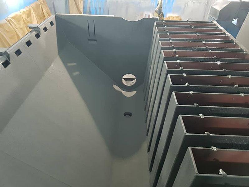 Защита оборудования для машиностроения, металлургии, обогатительных и коксохимических заводов полимерным покрытием Line-X