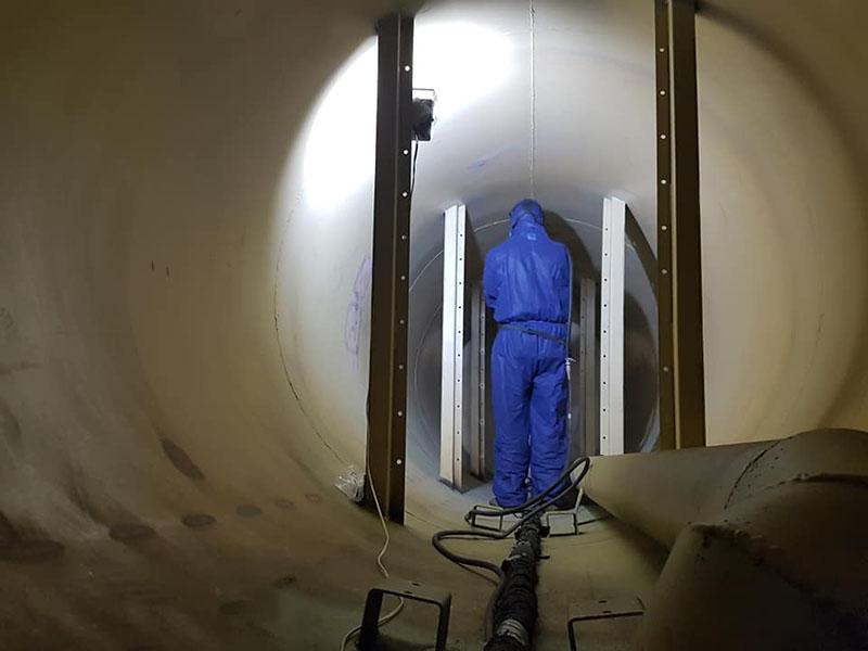 Защита цистерны для перевозки минеральных удобрений покрытием Line-X