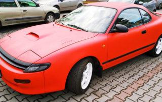 Восстановление кузова Toyota Celica, окраска защитным покрытием Line-X