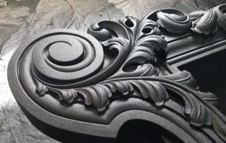Защита декоративного обрамления, рам окон полимерным покрытием Line-X