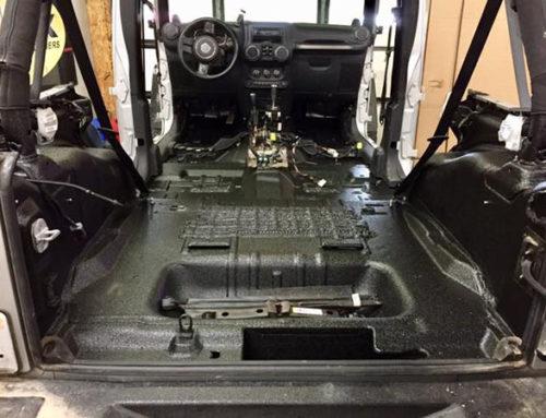 Line-X – надежная гидроизоляция салона автомобиля