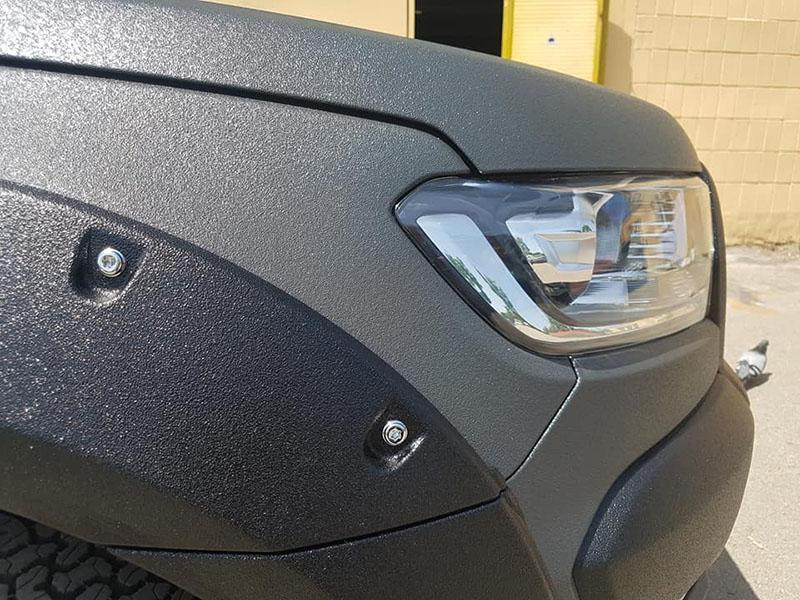 наша первая посткарантинная работа по покраске кузова нового Ford Ranger в Line-X.