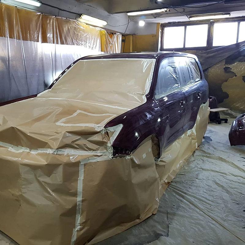 Покраска Lexus LX570 защитным покрытием Line-X