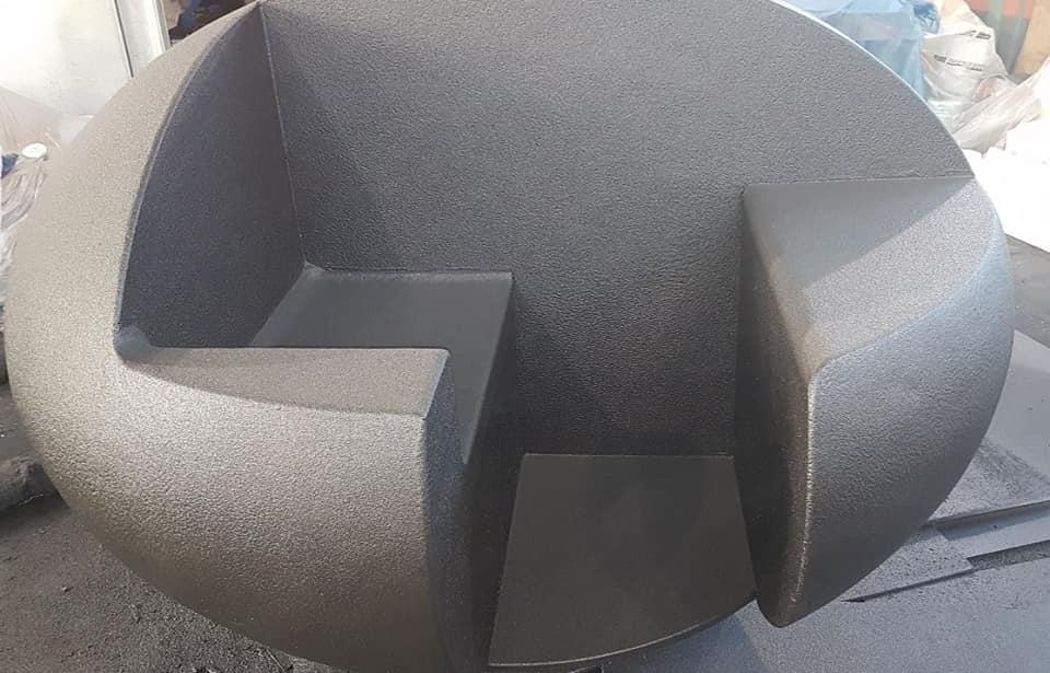 Защита садовой и парковой мебели покрытием Line-X
