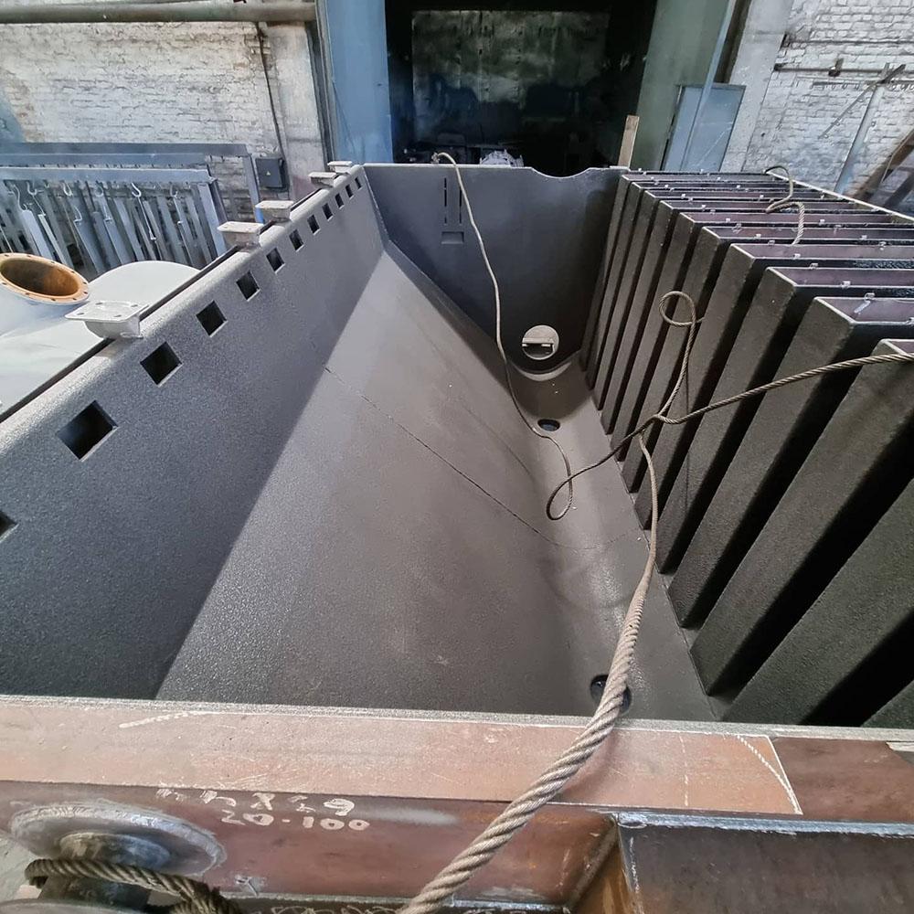 Защита горно-обогатительного оборудования покрытием Line-X